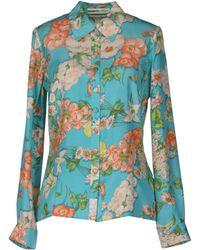 Clements Ribeiro - Long-Sleeves Floral Silk Shirt - Lyst