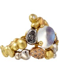 Paul Morelli - Gold Diamond and Moonstone Summer Pebble Ring - Lyst