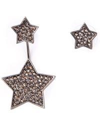 Luxury Fashion Embellished Star Stud Earrings - Lyst