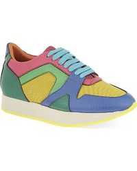 Burberry Multicolor Field Trainers - Lyst