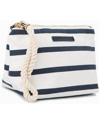 Violeta by Mango - Striped Cosmetic Bag - Lyst