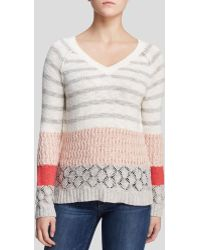 Sanctuary - Mixed Knit Rugby Jumper - Lyst