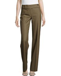Michael Kors Plaid Flare Trousers - Lyst