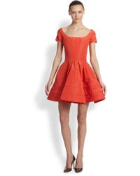 Zac Posen Silk Flared Dress - Lyst