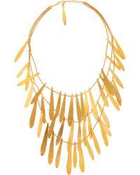 Herve Van Der Straeten - Tiered Hammered Goldplated Brass Necklace - Lyst