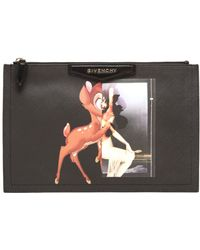 Givenchy Large Bambi Print Coated Canvas Clutch - Lyst
