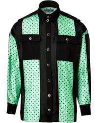 Emanuel Ungaro Silk Colorblock Shirt - Lyst