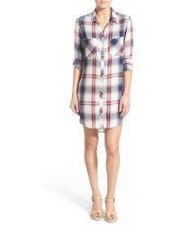 Side Stitch - Plaid Shirtdress - Lyst