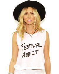 MINKPINK Festival Addict Tank In White white - Lyst