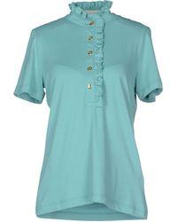 Tory Burch Polo Shirt blue - Lyst