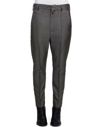 Haider Ackermann Graphicpatterned Wool Tweed Tapered Pants - Lyst
