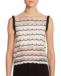 Alexis Thad Fringe-Embellished Sheer Top - Lyst
