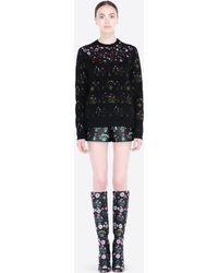 Valentino Shorts In Primavera Print Scuba - Lyst