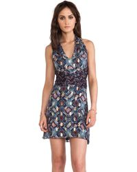 Anna Sui Warp Print Wrap Around Dress - Lyst