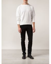 Levi's White Raglan Sweater - Lyst