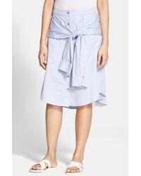 T By Alexander Wang Cotton Poplin Skirt - Lyst