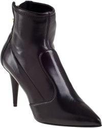 Giuseppe Zanotti Stretch Ankle Boot Black Leather - Lyst