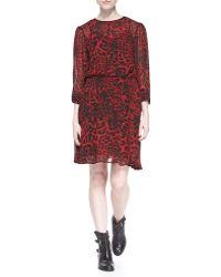 MICHAEL Michael Kors Fremont Smoked Animal Print Dress - Lyst
