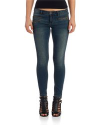 Free People Zip Ankle Jeans - Lyst