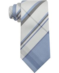 Kenneth Cole Reaction Luis Plaid Slim Tie - Lyst