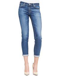 AG Adriano Goldschmied Stilt Skinny Roll-up Jeans - Lyst