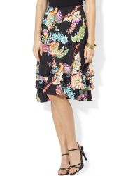 Lauren by Ralph Lauren Ruffled Paisleyprint Skirt - Lyst