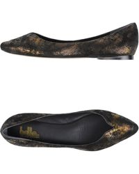 Belle By Sigerson Morrison Ballet Flats gold - Lyst