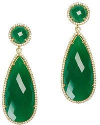 Susan Hanover - Emerald Drop Earrings - Lyst