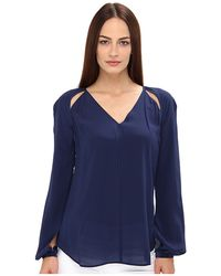 Rachel Roy Cut Out Blouse - Lyst