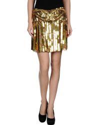 Roberto Cavalli Mini Skirt - Lyst