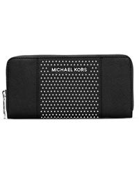 Michael by Michael Kors Studded Ziparound Continental Wallet - Lyst