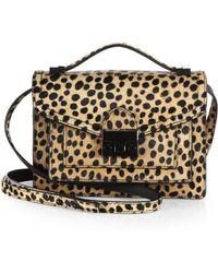 Loeffler Randall Mini Cheetah-Print Calf Hair Rider Shoulder Bag - Lyst