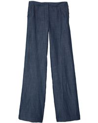 Tibi Rigid Denim Sailor Pants - Lyst