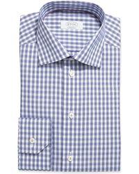 Eton Box Plaid Dress Shirt - Lyst