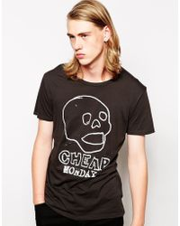 Cheap Monday Tshirt Print Skull - Lyst