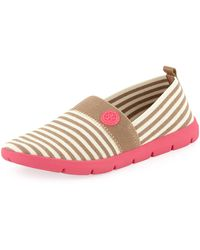 Tory Burch Micah Striped Elastic Sneaker  - Lyst