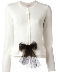 RED Valentino W Bow Cardigan - Lyst