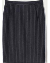 Bally - Wool Pinstripe Skirt - Lyst