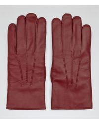 Reiss Thorman Leather Gloves - Lyst