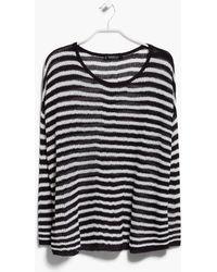 Mango Striped Sweater - Lyst