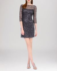 Kay Unger Dress  Sequin Lace - Lyst
