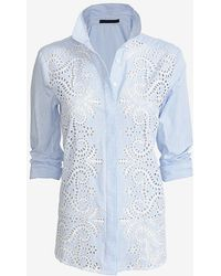 Jenni Kayne Cutout Striped Buttondown Shirt - Lyst