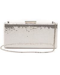 Whiting & Davis Slim Frame Clutch - Silver - Lyst