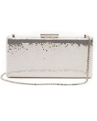 Whiting & Davis Slim Frame Clutch Silver - Lyst
