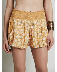 Free People Silver Lace Soft Short - Lyst