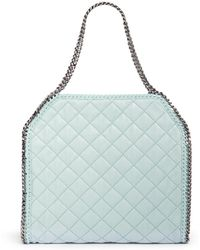 Stella McCartney 'Falabella' Large Quilted Chain Tote - Lyst