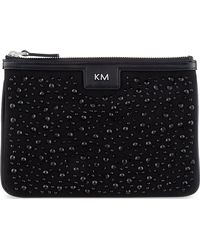 Karen Millen Stoneencrusted Cotton Pouch Black - Lyst