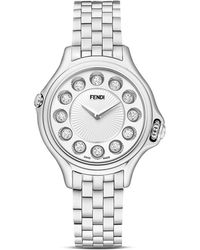 Fendi Crazy Carats Stainless Steel Rotating Gemstones Watch 33mm - Lyst