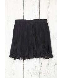 Free People Vintage Chiffon Pleated Mini Skirt - Lyst