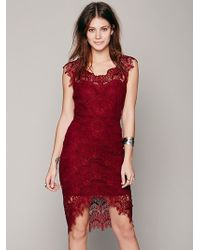 Free People Peekaboo Lace Slip - Lyst
